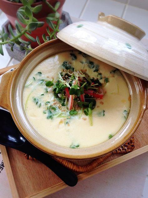 いつも作る茶碗蒸しを中華風の味付けにして、100均のミニ土鍋に入れて作ってみました♪とろん♪つるん♪と美味いですよ( ˊᵕˋ* )♩分量は、普通の茶碗蒸し4個分にあたります。ミニ土鍋にぴったりな量でした♡