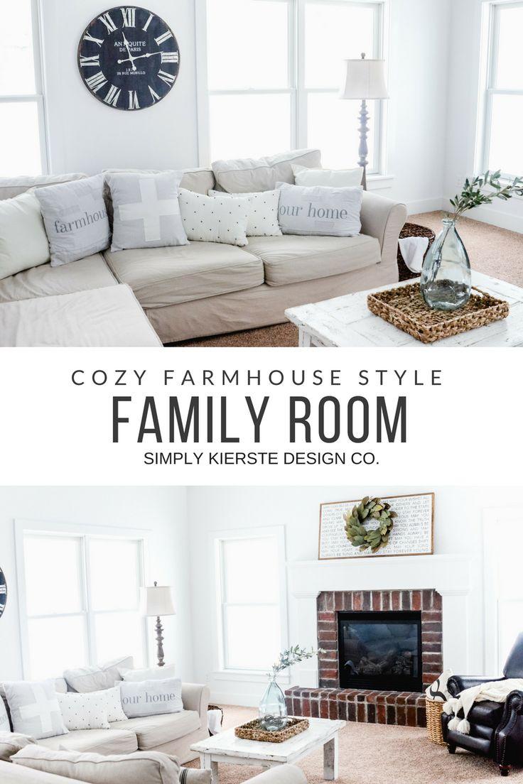Cozy Farmhouse Family Room | simplykierste.com #farmhousestyle #familyroomdecor ...