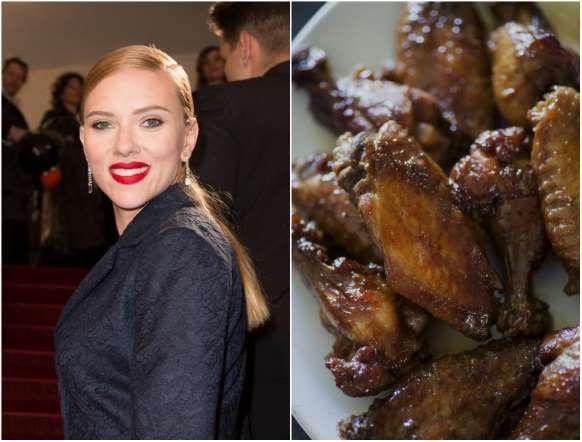 CINE 2014 - 7 - SCARLETT JOHANSSON La actriz de Avengers está obsesinada con las alitas de pollo.