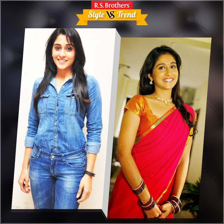 """#Style vs #Trend!! South Indian Actress #Regina Cassandra in Beautiful #Saree with Traditional Look & in other side with #Trendy Outfits.  Which Outfit suits her best & looks Awesome? Present your interest in """"Like"""" for Trendy Outfits or """"Comment"""" for Saree…. (Image copyrights belong to their respective owners)"""