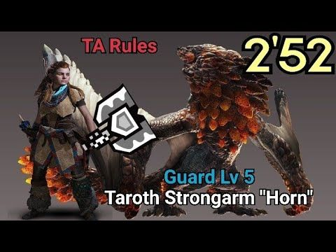 MHW | Bazelgeuse vs Charge Blade 2'52 TA Rules Taroth Strongarm