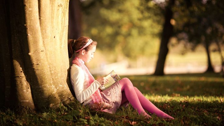 1920x1080 trees, nature, girl, park, book, privacy Wallpapers and ...