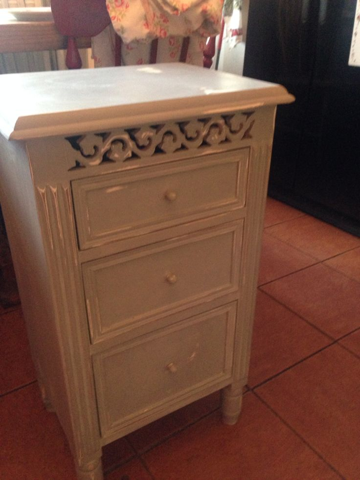 Upcycled bedside table.