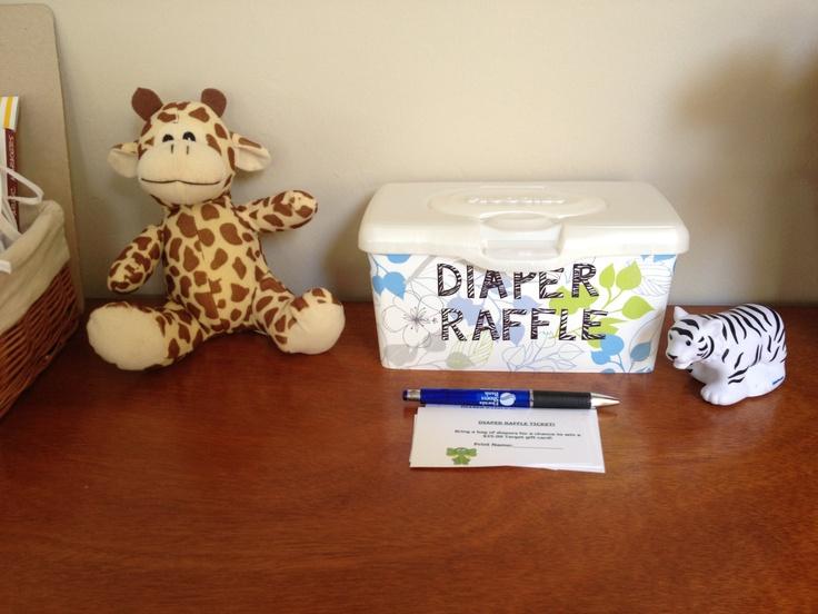 diaper raffle put tickets in wipe container  u0026quot if you u0026 39 d like