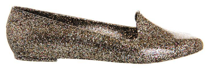 Free Fish Oscar Black Glitter - Flats