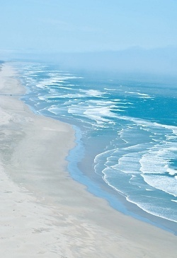 pastel sea shore. I love the beach and the mountains. Both make me feel at peace : )