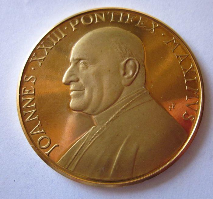 "Catawiki online auction house: Vatican – Gold medal, 1963 Loannes 23rd ""Oboedentia et Pax""."