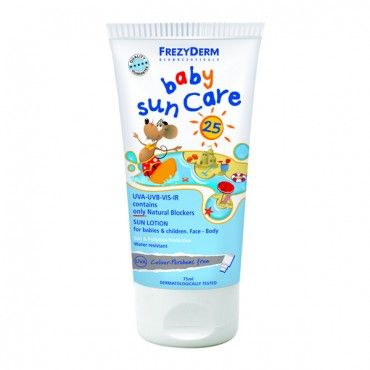 Frezyderm SPF25 Baby Sunscreen. ALL NATURAL baby sun protection lotion, nothing artificial hence the SPF25 - but a great way to give your precious little one that little extra protection - Only £12.95 inc. FREE P&P