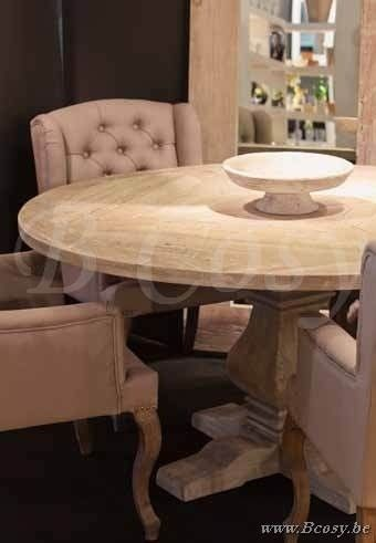 Lee&Lewis X-Collection Ronde Tafel In Dennehout White Wash 150