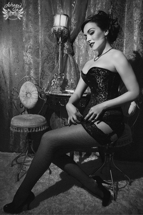 Burlesque. Original caption: 'So much sexier than the current nothing left to the imagination styles.'  Amen.