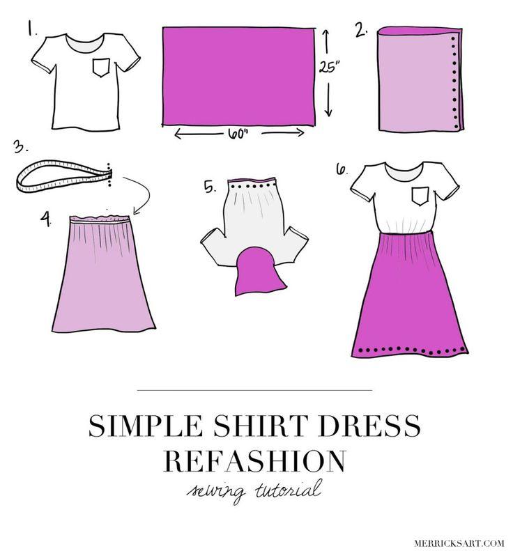 DIY FRIDAY: TURN A BASIC TEE INTO A PRETTY SUMMER DRESS (SEWING TUTORIAL)