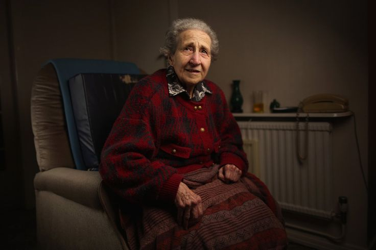 Auschwitz concentration camp survivor Edith Baneth, aged 88, poses in her home on December 1, 2014 in London, United Kingdom. Edith Baneth was a prisoner in Theresienstadt, Auschwitz, Neuengamme and Bergen-Belsen concentration camps.