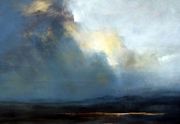 Zarina Stewart-Clark - Loch Ceann, Dibig, Harris. Oil on Board