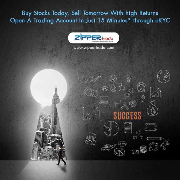 Buy Stocks Today, Sell Tomorrow with High Returns.   Open a #TRADINGACCOUNT in Just 15 Minutes through eKYC at: - www.zippertrade.com/open-account.php  #ZIPPERtrade #NSE #BSE #MSEI #StockMarket #OnlineTrading