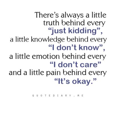 There's always a little....