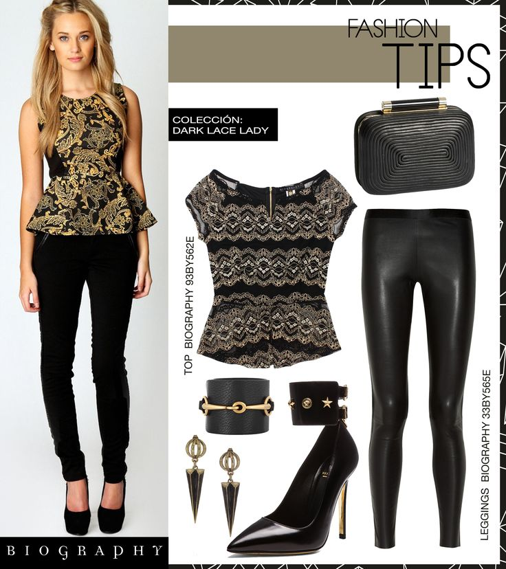 Top de encaje con Peplum  #Look #Fashion #DarkLaceLady #Lace #FashionTip #BiographyTrend #Biography