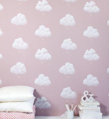 papier peint enfant nuages bartsch - Papier Peint Fille
