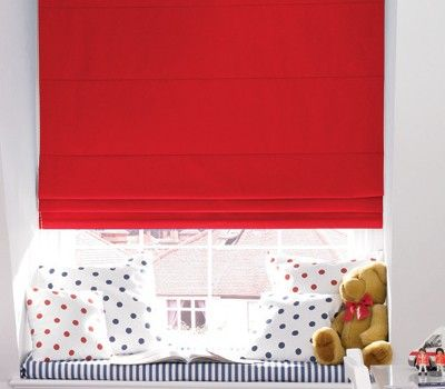 Red Blinds Especially With Blackout Lining Are A Great Choice For Kids Bedroom Windows Interiordesigns