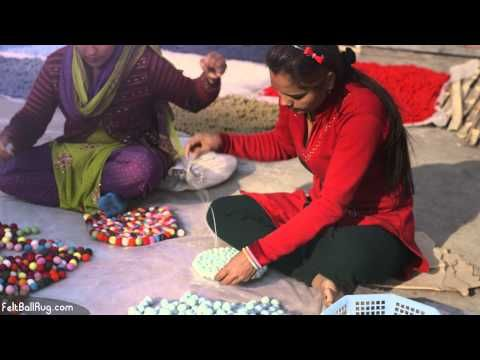 A beautiful new video about how a felt ball rug is handmade in Nepal! You can see how the felt balls are first made from New Zealand wool in many different colors. The felt balls are then handsewn together to make a felt ball rug. Moreover, the video shows the women who make the felt ball rugs at work and their (good!) working conditions. You'll love this video if you consider to buy a Hay Pinocchio rug or other felt ball rug!
