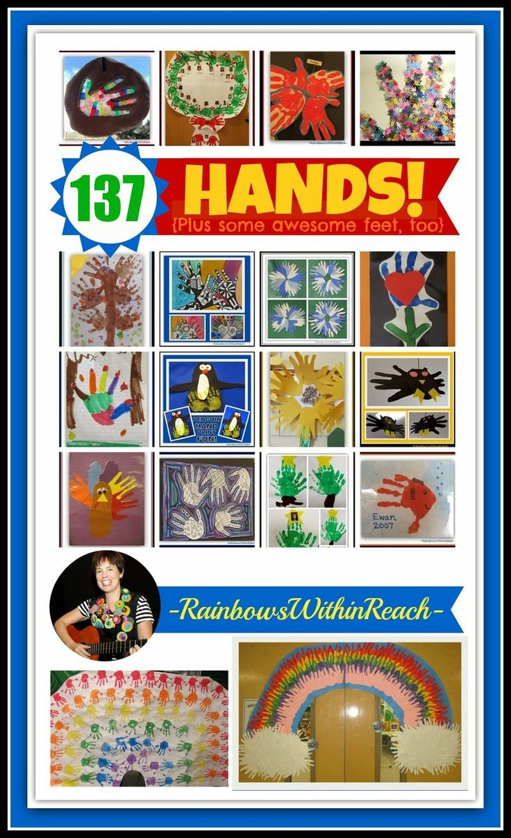 137 Hand And Feet {print} Projects For Kids