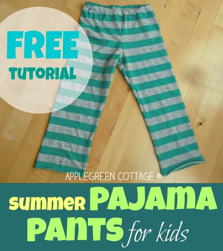 How to SEW kids pajamas ~ Apple Green Cottage