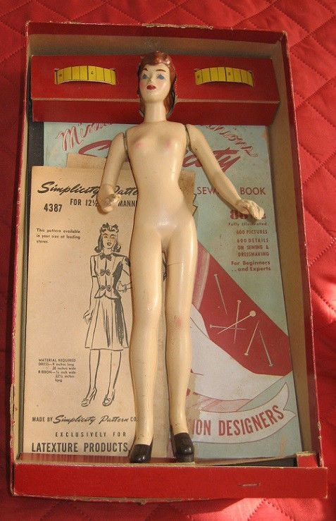 1940s simplicity sewing mannequin