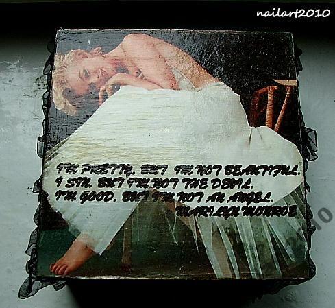 Marilyn Monroe baletnica szkatułka na biżuteria
