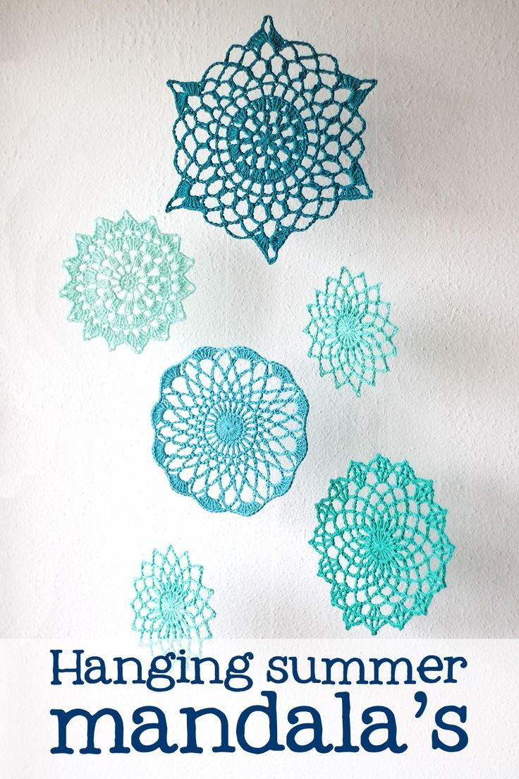 Ta-dah and free crochet pattern: Summer mandala's