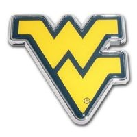 West Virginia Mountaineers Auto Accessories in Mountaineers team colors of navy blue and gold with WV logo on each of these authentic West Virginia University and Car and Truck Accessories, auto emblems, license plates, auto decals, trailer hitches, car mats, seat covers, steering wheel covers, auto stickers, key chains, and mirror covers in a variety of patterns, styles, and colors.