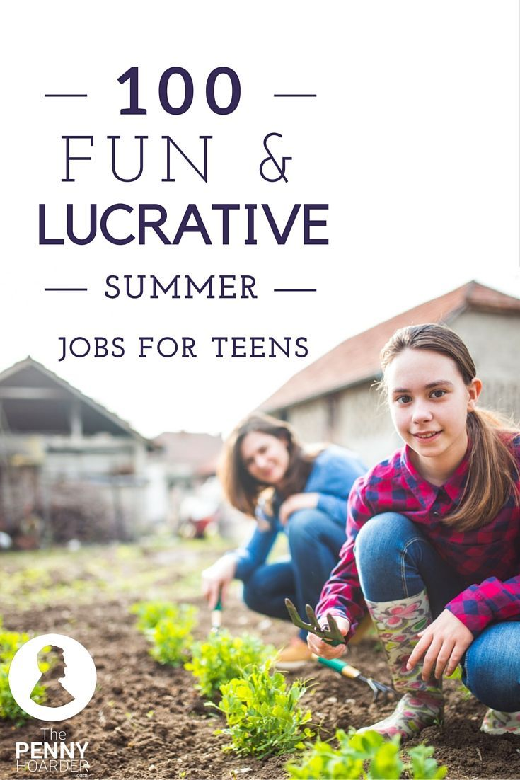 17 best ideas about summer jobs for teens teen jobs wondering how to make money while you re out of school for the summer from classic options like working in retail or babysitting to more imaginative