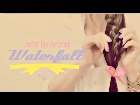 BETTER THAN HER SIDE BRAID TUTORIAL| WATERFALL BRAIDED PONYTAIL UPDO HAIRSTYLES FOR LONG HAIR