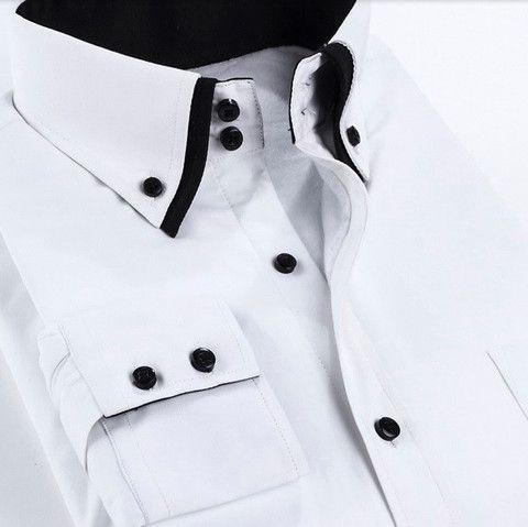 Double-Collared Faux Fur Urban Dress Shirt – U R B A N S T O X
