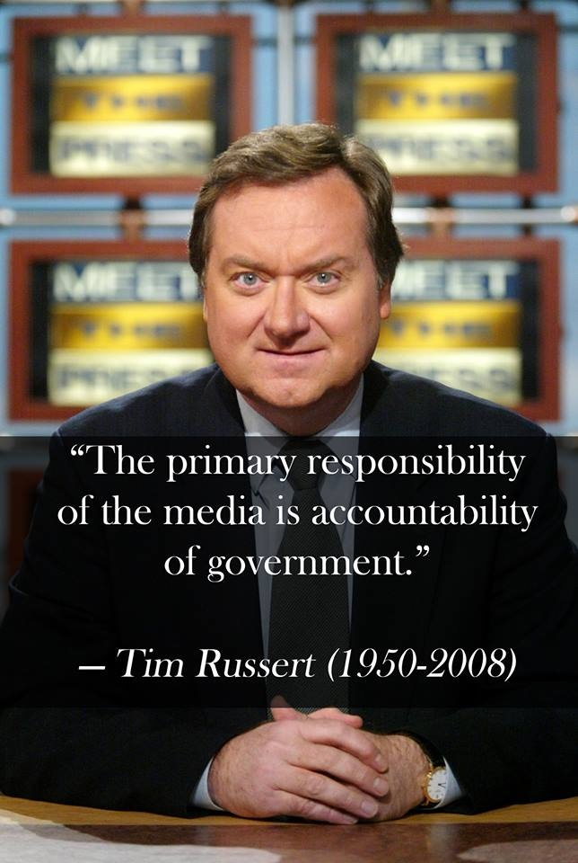 Words of wisdom from Tim Russert who died five years ago. He's still greatly missed.