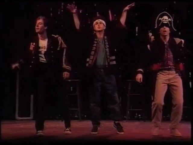 "From the Off-Broadway Musical Hit ""3 GUYS NAKED FROM THE WAIST DOWN,"" three stand up comics:  Ted Klausterman, Phil Kunin"
