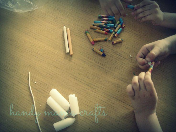 handy mama crafts: πολύχρωμα κεράκια απο κηρομπογιές!!!!