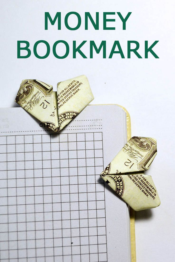58 best money dollar origami images on pinterest money origami heart bookmark tutorial diy if you forget where you left off when reading a book then you definitely need to bookmark jeuxipadfo Image collections
