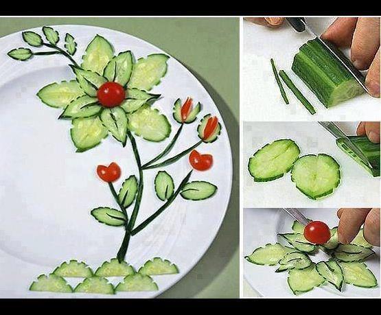 Cucumber/Tomato art