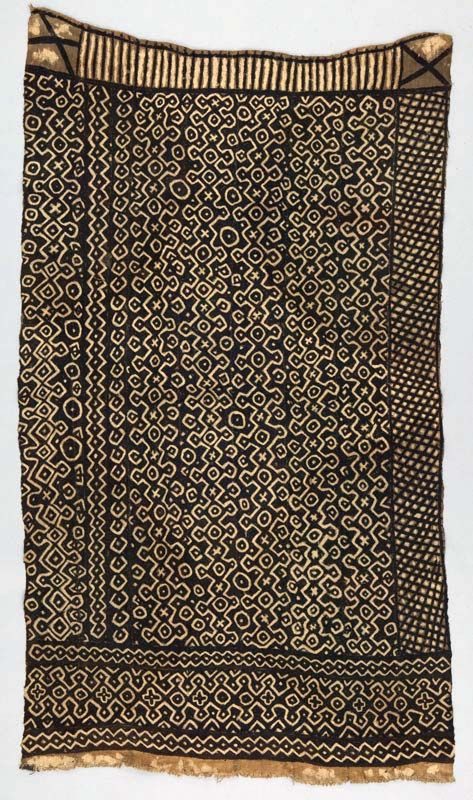 Africa | Wrapper ~ bokolanfini ~ from the Bamana people of the Mali | 20th century