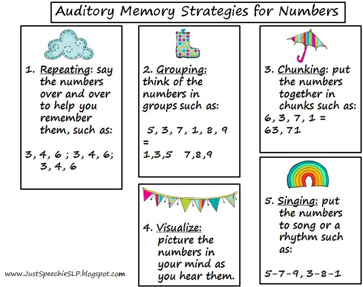 Auditory Memory Exercises