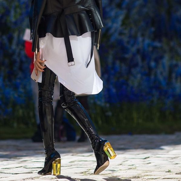 Dior boots / PFW 2015: