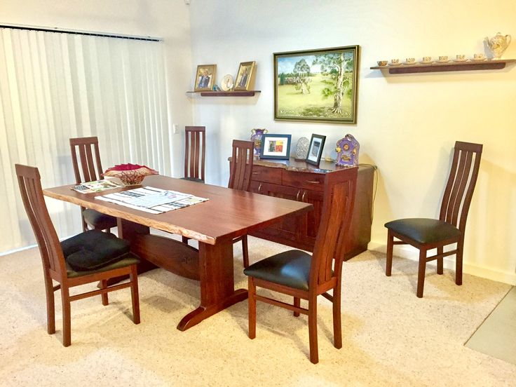 Jarrah dining table and sideboard
