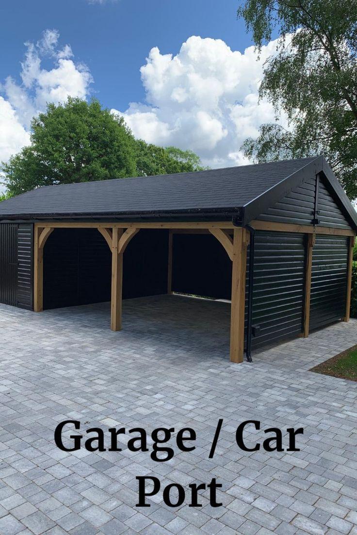 Carport Garage Timberbuildings Surrey London Project Team Unique Project For The Team At Baker S T In 2020 Building A Carport Diy Carport Building A Garage