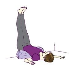 Viparita Karani (Legs up the wall pose) yoga pose for pregnant women to ease com… – Yoga while Pregnant