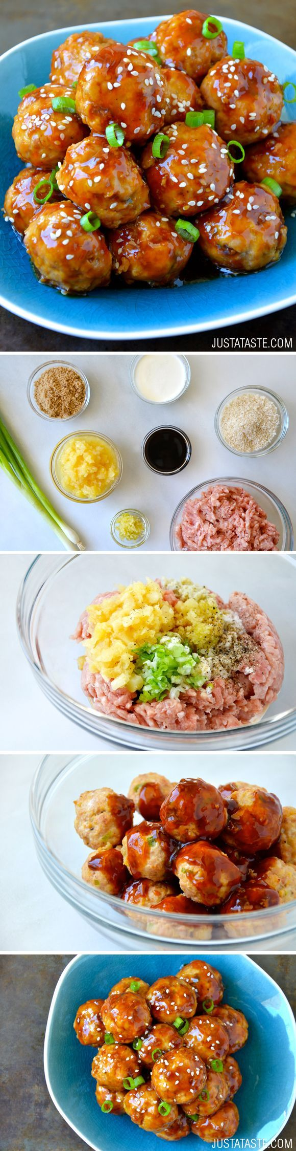 Baked Teriyaki Chicken Meatballs Recipe. #pioneersettler