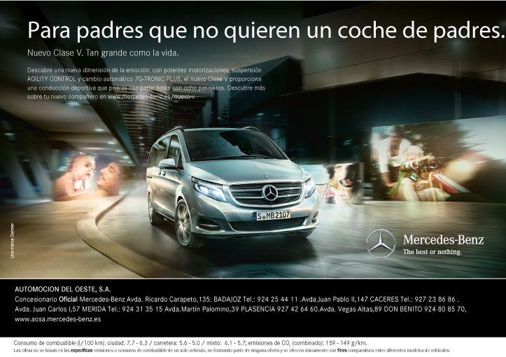 Nueva Clase V de #MercedesBenz si quieres saber más haz clic en http://bit.ly/mercedesclasev