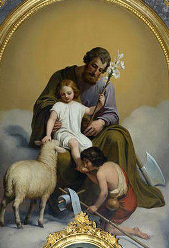 Saint Joseph And Jesus With John The Baptist, Melchior Paul von Deschwanden