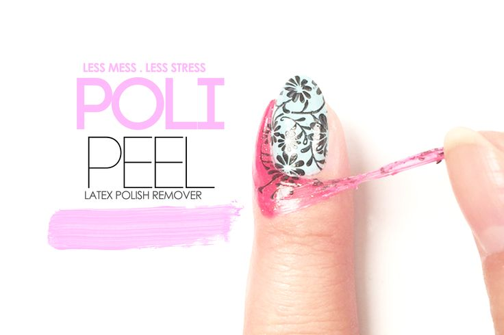 Meet your new bestie Poli Peel! Use it for stamping, water marble nails, or even as a peelable base!  #nailart #gel #polish