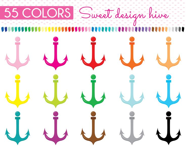 Anchor Clip art, Rainbow Anchor clipart, Anchor Icon, Digital illustrations PNG, Planner Stickers, planner clipart, Commercial Use, PL0130 by Sweetdesignhive on Etsy
