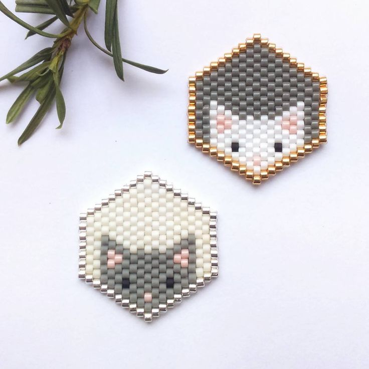 stitch lab grey brick brickstitch products light earrings art