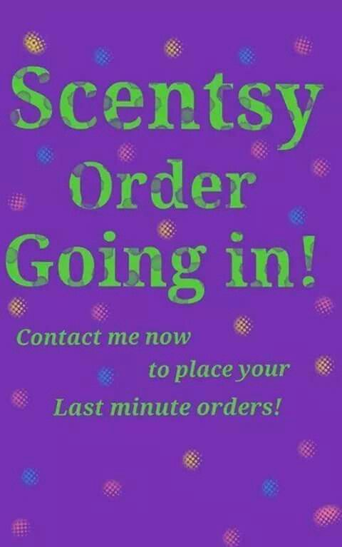 Orders going in Tuesday! Let me know on Pinterest,  FB Ashley Ortiz, Instagram Ashley's Scentsy, my group ashleyo.scentsy.us By Ashley Ortiz and Pages Ashleys Launch party and ashleyo.scentsy.us By Ashley Ortiz ashleyo.scentsy.us well.  Come follow n like my pg n fb. Tuesday orders going in.  Let me know